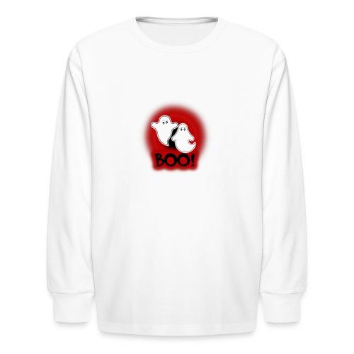 Ghosties Boo Happy Halloween 4 - Kids' Long Sleeve T-Shirt