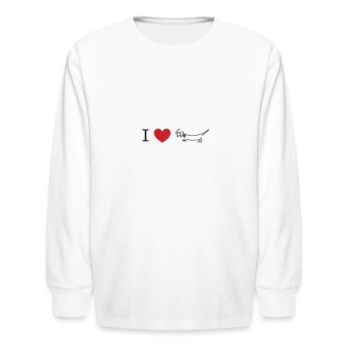 I love Dachshund - Kids' Long Sleeve T-Shirt
