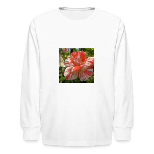 Pink and white rose seeds mixed rare flower - Kids' Long Sleeve T-Shirt