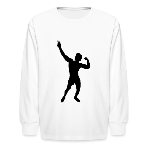 Zyzz Silhouette vector - Kids' Long Sleeve T-Shirt