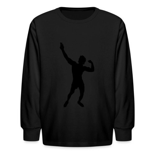 Zyzz Silhouette vector - Kids' Long Sleeve T-Shirt