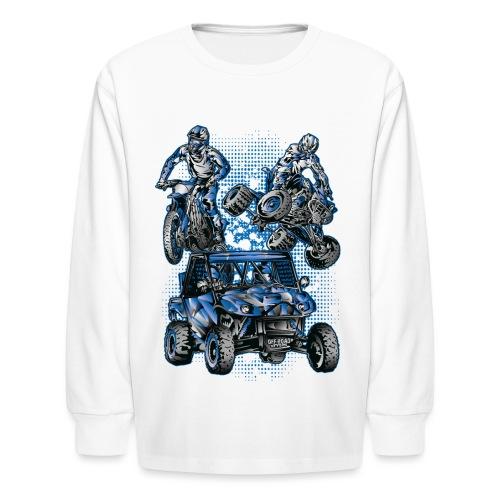 Moto Extreme Sports Blue - Kids' Long Sleeve T-Shirt