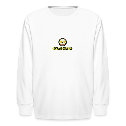 Egg Adiction - Kids' Long Sleeve T-Shirt