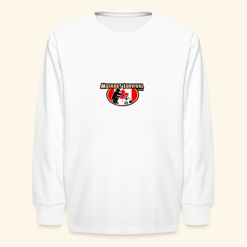 Muskrat Badge 2020 - Kids' Long Sleeve T-Shirt