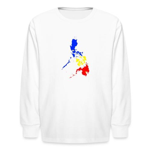 Philippines map art - Kids' Long Sleeve T-Shirt