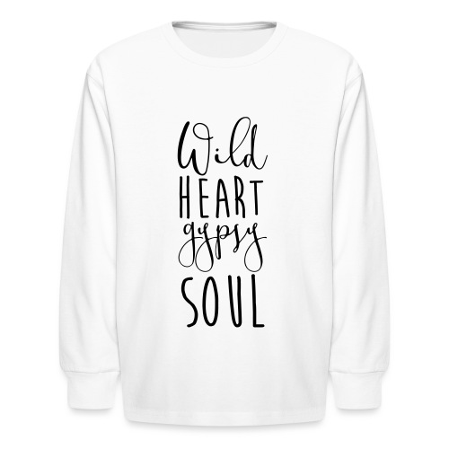 Cosmos 'Wild Heart Gypsy Sould' - Kids' Long Sleeve T-Shirt
