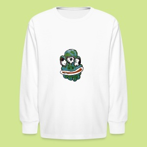 Earth Face - Kids' Long Sleeve T-Shirt