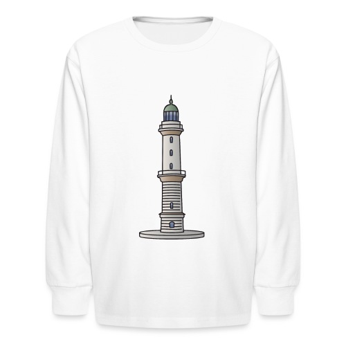 Lighthouse Warnemünde Rostock - Kids' Long Sleeve T-Shirt