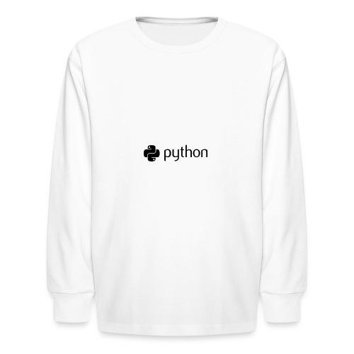 python logo - Kids' Long Sleeve T-Shirt