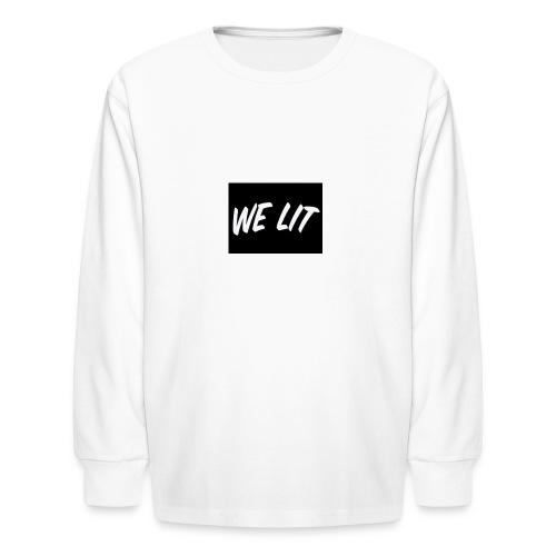 we lit merch - Kids' Long Sleeve T-Shirt