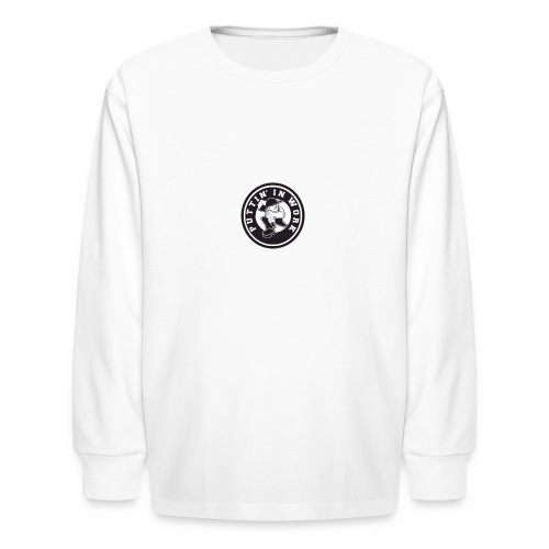 Solid Puttin' In Work Logo - Kids' Long Sleeve T-Shirt