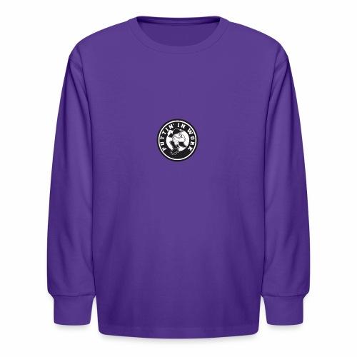 Solid Puttin' In Work Logo - Kids' Long Sleeve T-Shirt