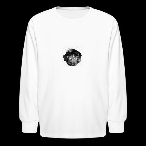 ROS FINE ARTS COMPANY - Black Aqua - Kids' Long Sleeve T-Shirt