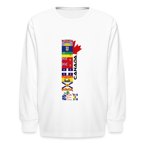Canadian Provinces - Kids' Long Sleeve T-Shirt