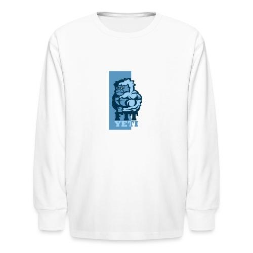 Fit Yeti - Kids' Long Sleeve T-Shirt