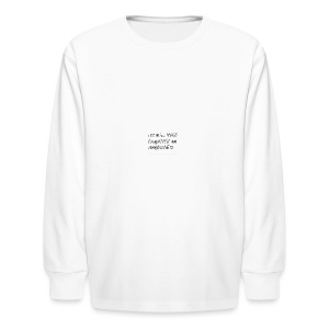 I can do all things through Christ - Kids' Long Sleeve T-Shirt