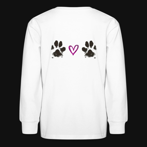 Paw Love black - Kids' Long Sleeve T-Shirt