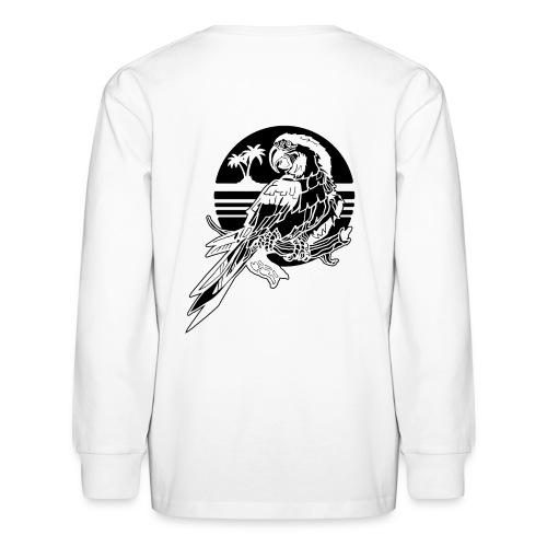 Tropical Parrot - Kids' Long Sleeve T-Shirt