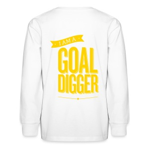 I Am A Goal Digger - Kids' Long Sleeve T-Shirt