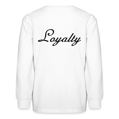 Loyalty Brand Items - Black Color - Kids' Long Sleeve T-Shirt