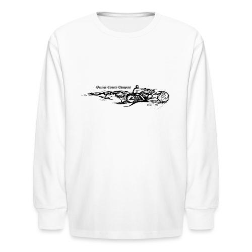 Sketch Rider Front - Kids' Long Sleeve T-Shirt