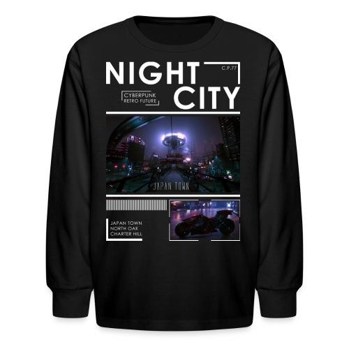 Night City Japan Town - Kids' Long Sleeve T-Shirt