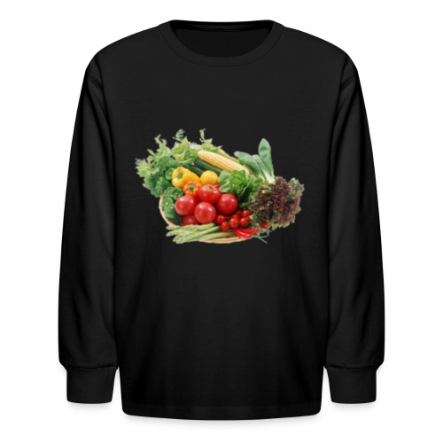 vegetable fruits - Kids' Long Sleeve T-Shirt