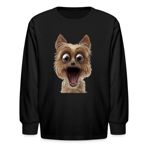 Dog puppy pet surprise pet - Kids' Long Sleeve T-Shirt
