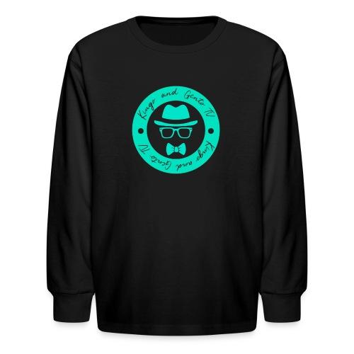 Kings and Gents TV Logo - Kids' Long Sleeve T-Shirt