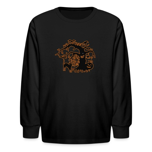 Halloween tree - Kids' Long Sleeve T-Shirt