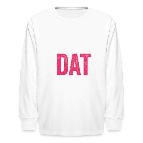 pink white box d logo png - Kids' Long Sleeve T-Shirt
