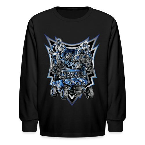 Extreme Life Style Blue - Kids' Long Sleeve T-Shirt