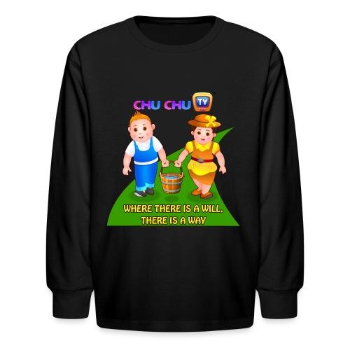 Motivational Slogan 8 - Kids' Long Sleeve T-Shirt