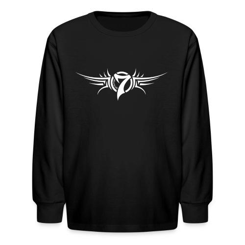 MayheM-7 Tattoo Logo White - Kids' Long Sleeve T-Shirt