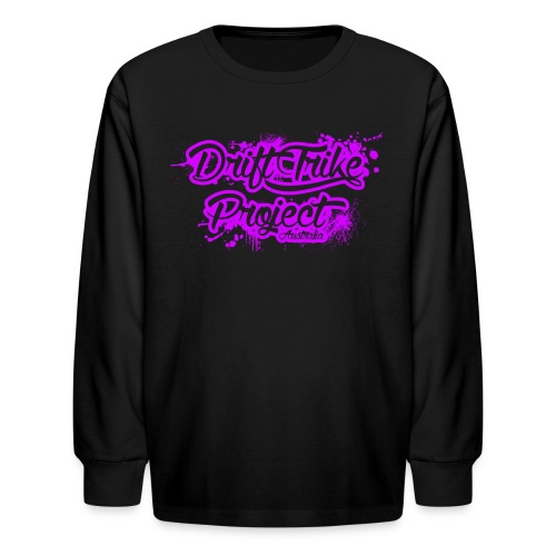 Drift Trike Project splatter purple png - Kids' Long Sleeve T-Shirt