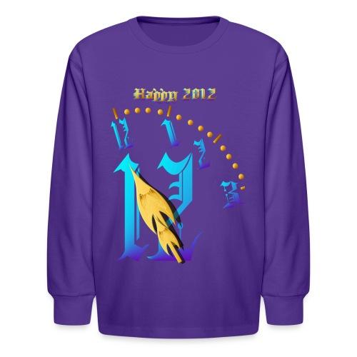 Happy 2012-Clock Striking 12:NM - Kids' Long Sleeve T-Shirt