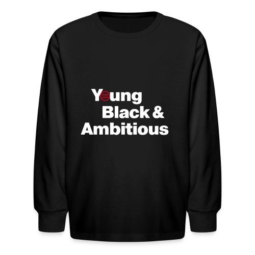 YBA Black Shirt2 - Kids' Long Sleeve T-Shirt