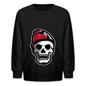 Custom Skull With Ice Cap Merch! - Kids' Long Sleeve T-Shirt