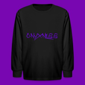 OnyxNess (Purple) - Kids' Long Sleeve T-Shirt