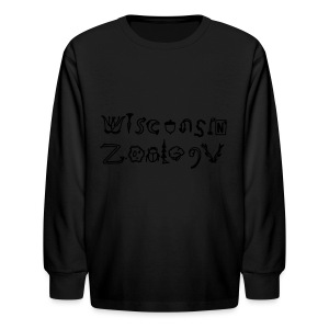Wisconsin Zoology - Kids' Long Sleeve T-Shirt