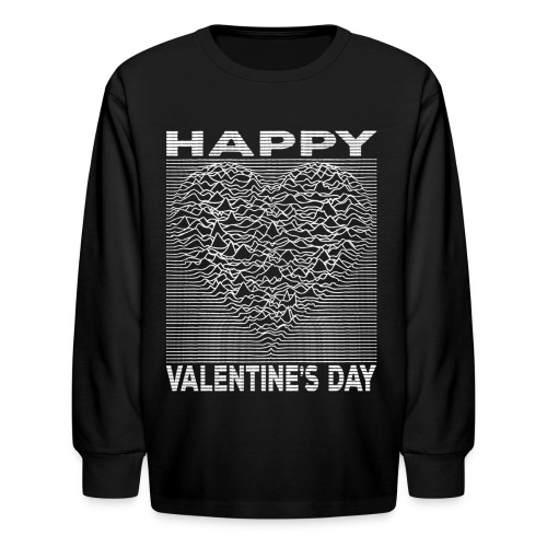 Love Lines Happy Valentines Day Heart - Kids' Long Sleeve T-Shirt