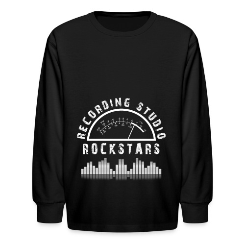 Recording Studio Rockstars - White Logo - Kids' Long Sleeve T-Shirt