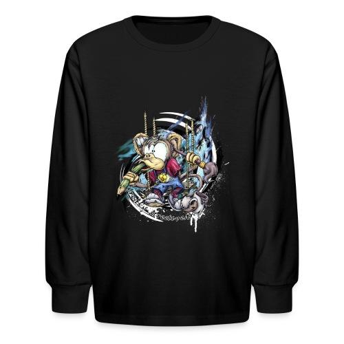 the graphic monkey - Kids' Long Sleeve T-Shirt