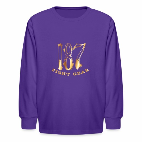 187 Fight Gear Gold Logo Street Wear - Kids' Long Sleeve T-Shirt
