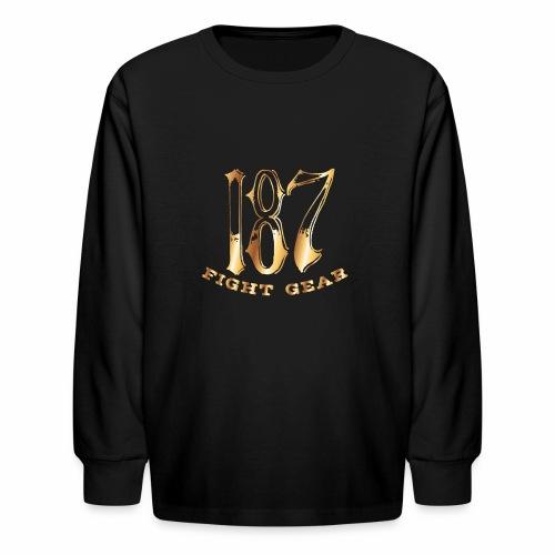 187 Fight Gear Gold Logo Sports Gear - Kids' Long Sleeve T-Shirt