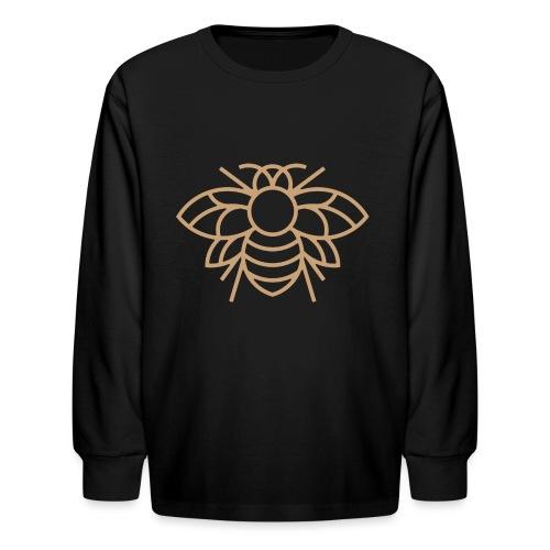 (bee_gold) - Kids' Long Sleeve T-Shirt