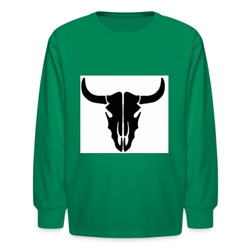 Longhorn skull - Kids' Long Sleeve T-Shirt