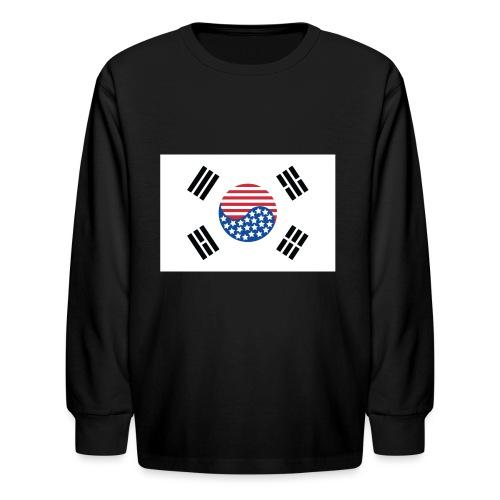 Korean American Flag - Kids' Long Sleeve T-Shirt