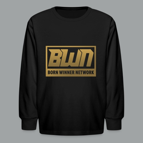 BWN (Gold) - Kids' Long Sleeve T-Shirt