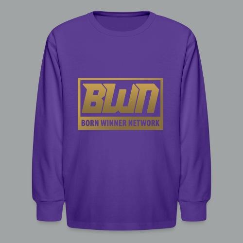 BWN (Gold) - Kids' Long Sleeve T-Shirt